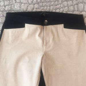 Chic black/cream color block pants from BR